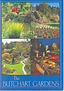 Butchart Gardens Victoria BC Canada Postcard (Image1)