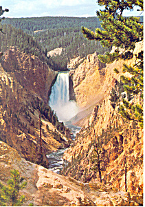 Grand Canyon Of The Yellowstone Wy Postcard Cs1988