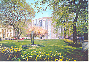 Coventry Cathedral West Side UK Postcard cs2105 (Image1)