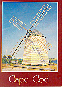 Windmill, Bass River,Cape Cod, MA Postcard (Image1)