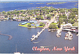 Aerial of Clayton New York Postcard cs2026 1978 (Image1)