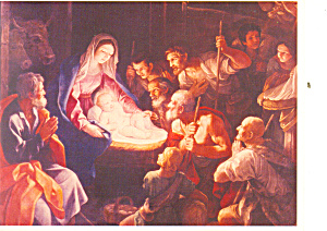 Adoration of the Shepherds by Guido Reni Postcard (Image1)