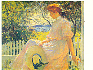 Eleanor 1907 by Frank Weston Benson Postcard cs2032 (Image1)