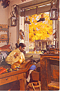 Bootmakers Shop Williamsburg VA Postcard cs2037 (Image1)
