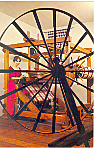 Spinning Weaving House Williamsburg VA Postcard cs2038 (Image1)