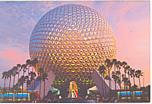 Space Ship Earth Disney World  Postcard 1984 (Image1)