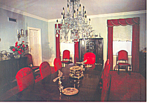Dining Room Eisenhower Home Pa Postcard Cs2075