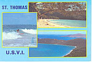 Magena Bay Beach  US Virgin Islands Postcard cs2095 (Image1)