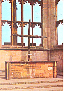 Coventry Cathedral The Charred Cross UK Postcard cs2101 (Image1)