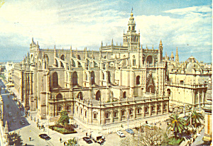 The Cathedral Sevilla Spain Postcard cs2107 (Image1)