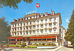 Hotel Europe, Lucerne,Switzerland Postcard (Image1)