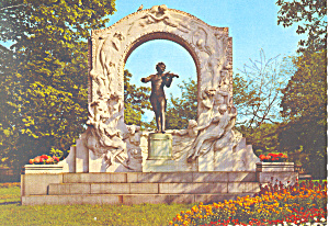 Johann Strauss Memorial, Vienna , Austria Postcard 1972 (Image1)