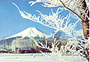 Mt Fuji from Oshino  Japan Postcard cs2132 (Image1)