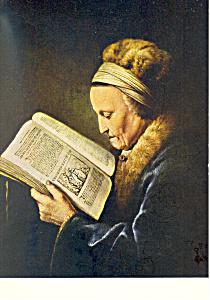 Rembrandt s Mother Gerard Dou Postcard cs2135 (Image1)