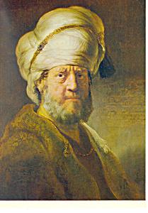 An Oriental Rembrandt Harmensz Van Rijn Postcard cs2136 (Image1)