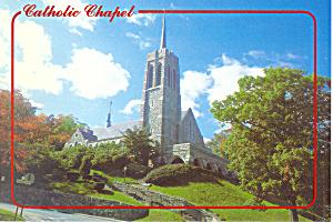 Catholic Chapel Holy Trinity West Point  NY Postcard cs2143 (Image1)