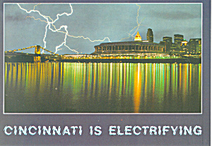 Cincinnati Ohio is Electrifying Postcard (Image1)