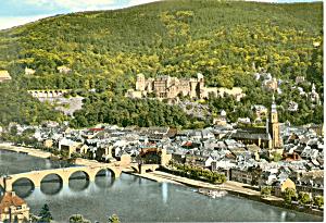 Heidelberg Germany Philosophenweg Postcard cs2174 (Image1)
