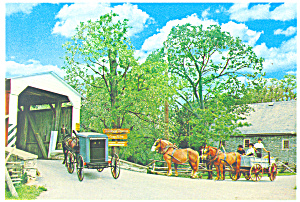 Herr s Mill and Bridge Lancaster County PA Postcard cs2184 (Image1)