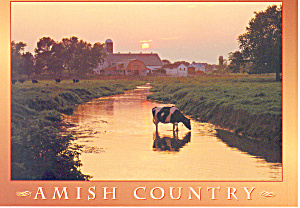 Amish Country, PA,Tranquil rural scene Postcard (Image1)