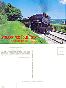 Strasburg Railroad Steam Train Postcard (Image1)