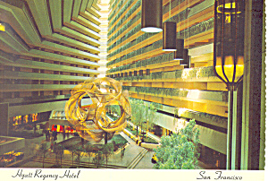 Hyatt Regency Hotel San Francisco CA Postcard cs2226 (Image1)