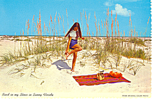 Sand in My Shoes in Sunny Florida Postcard cs2230 (Image1)