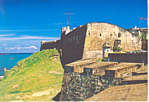Castillo San Cristobal San Juan Puerto Rico Postcard cs2246 (Image1)