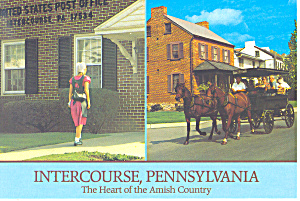 Post Office Intercourse Pennsylvania Postcard cs2269 (Image1)
