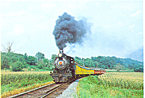 Strasburg Rail Road Steam Train Postcard (Image1)