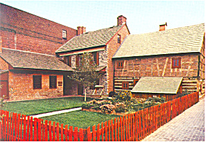 Gates House and Plough Tavern,York , PA Postcard (Image1)