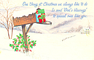 God's Blessing Christmas  Postcard (Image1)