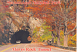 Mary s Rock Tunnel Shenandoah National Park VA  Postcard cs2321 (Image1)
