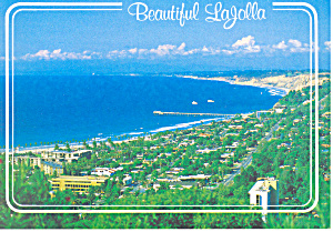 Beautiful La Jolla California Postcard Cs2327