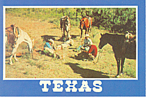 Texas Cowboys Postcard cs2340 (Image1)