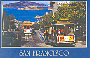 San Francisco Hyde Street Cable Cars Postcard (Image1)