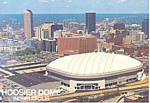 Hoosier Dome Indianapolis In Postcard Cs2356
