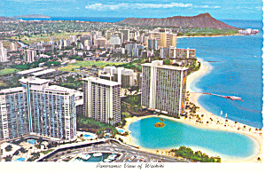 Panoramic View Of Waikiki Hawaii Postcard cs2359 (Image1)