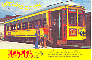 Chattanooga,TN 1918 Trolley Car Postcard (Image1)