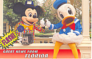 Mickey and Donald From Florida Postcard cs2367 (Image1)