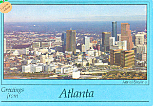 Aerial View of Atlanta Georgia Postcard cs2371 (Image1)
