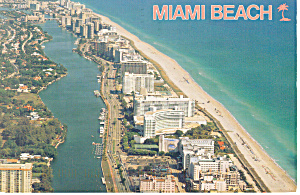 Aerial View of Miami Beach Florida Postcard cs2376 (Image1)