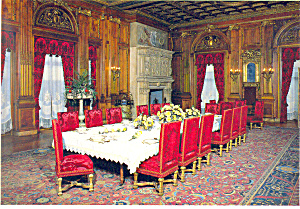 Vanderbilt Mansion Dining Room Hyde Park NY  Postcard cs2380 (Image1)