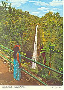 Aloha Falls Near Hilo Hawaii  Postcard cs2391 (Image1)
