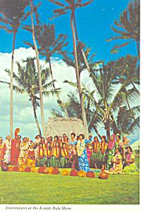 Entertainers at Kodak Hula Show Hawaii Postcard cs2394 (Image1)