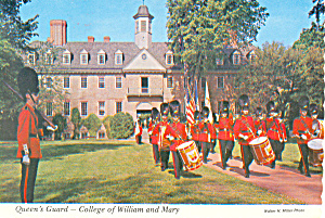 The Queen S Guard Williamsburg Va Postcard Cs2416