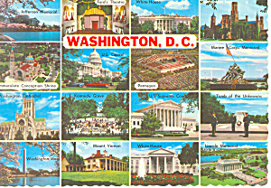 Multiple Views of,Washington DC Postcard (Image1)
