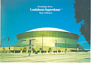 New Orleans Louisiana Superdome Postcard Cs2428