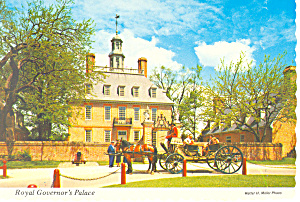 Royal Governor's Palace,Willamsburg,VA  Postcard (Image1)