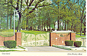 Gates on Elvis Presley Blvd,Graceland Tennessee Postcar (Image1)